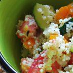 Теплый салат с цукини и кускусом