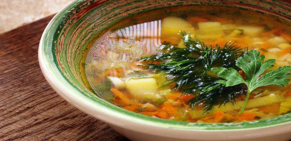 суп с булгуром и луком-пореем