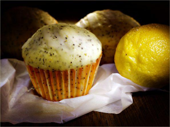 йогуртовые кексы с маком и лимоном