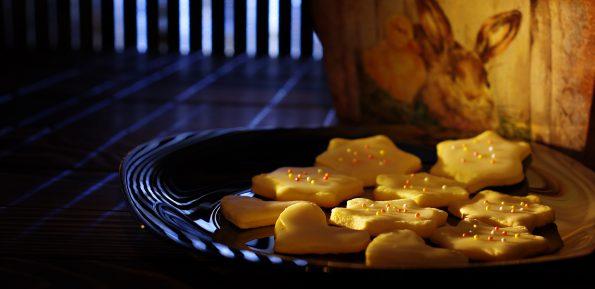 лимонное печенье с глазурью