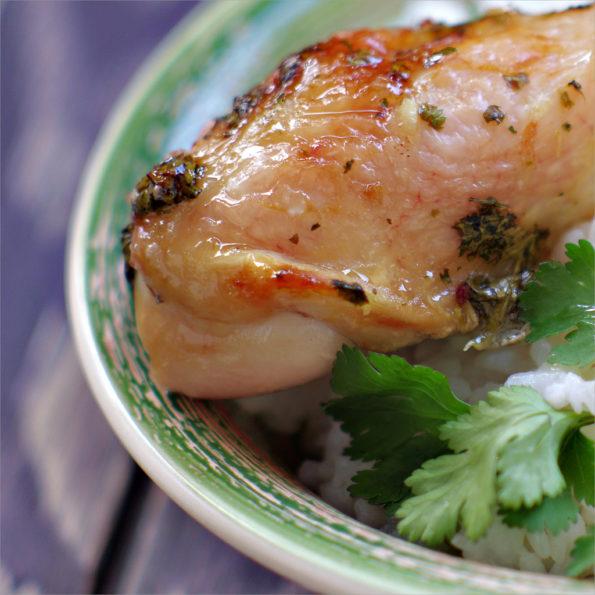 курица с йогуртом и кинзой