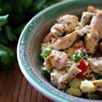 Стир-фрай из курицы в греческом стиле