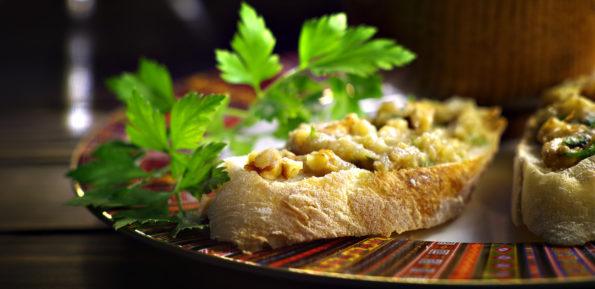 Греческая закуска из баклажанов