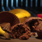 Шоколадно-банановые маффины с овсянкой