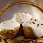 Детские пасхальные кексы с глазурью-маршмеллоу