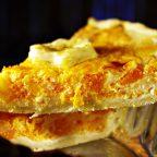 Открытый пирог с тыквой и сыром